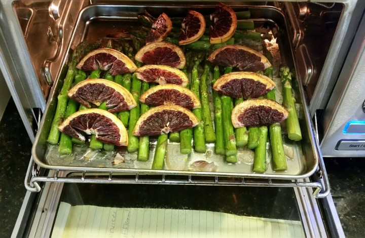 Steam Broiled Asparagus w/Blood Oranges